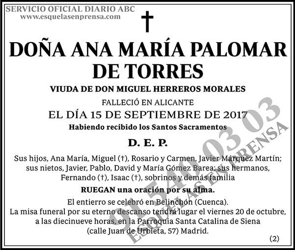 Ana María Palomar de Torres